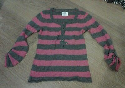 Pink and grey H&M jumper. Size M.