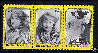 Gambia 1990 Queen Mother 90th Birthday SG1060/2 MNH