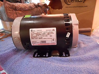 """Century Motor Electric H886L 2.0 HP 3 Phase 7/8"""" Keyed 2.25 """" Shaft 1725 RPM NEW"""
