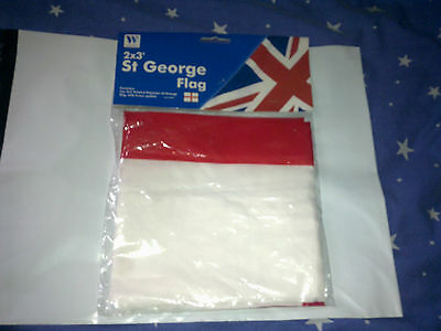 St George   Flag   With Brass Eyelets  Polyester      With Tags     New Conditio
