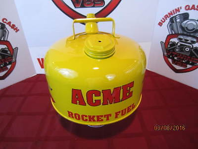 """Custom Painted Vintage Gas Can """"Acme Rocket Fuel"""" Featuring Wile E. Coyote"""