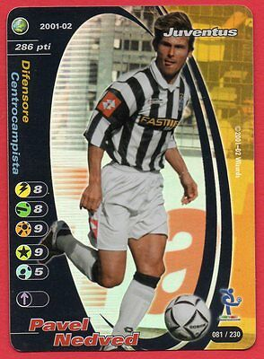 Football Champions Foil 2001-02 * Juventus Pavel Nedved 081/230 Nm
