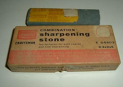 Vintage Sears, Roebuck & Co. Sharpening Stone In Box Plus Extra