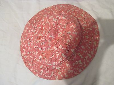 cc41 vintage child's pink sunhat