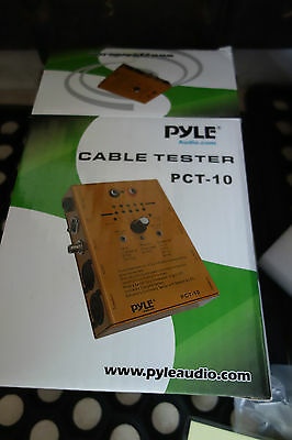 Pyle PCT-10 8 Way Audio Cable Tester TRS XLR Speakon RCA And Banana Plug Wires