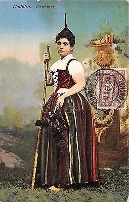 B94085 madeira woman portugal port costumes types folklore