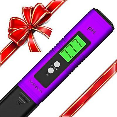 Quality Digital pH Meter Pen Tests Water Auto Calibration Button With ATC Purple