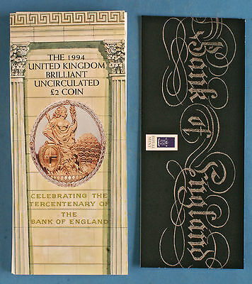 Royal Mint 1994 United Kingdom Brilliant Uncirculated Bank of England £2 Coin
