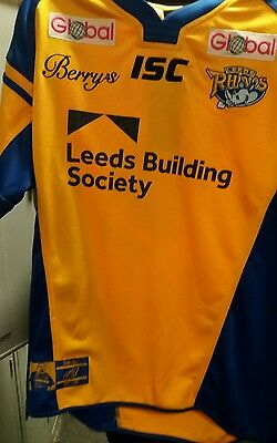 LEEDS RHINOS  2017 RUGBY LEAGUE SHIRT SIZE Large