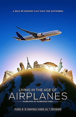 Living In The Age Of Airplanes movie poster  - 11 x 17 inches