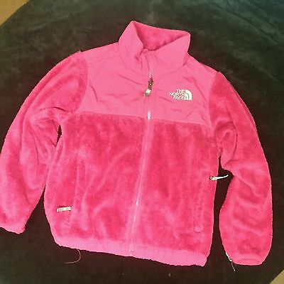 Girls The North Face Long Sleeve Fleece S/P 7/8 pink no hood