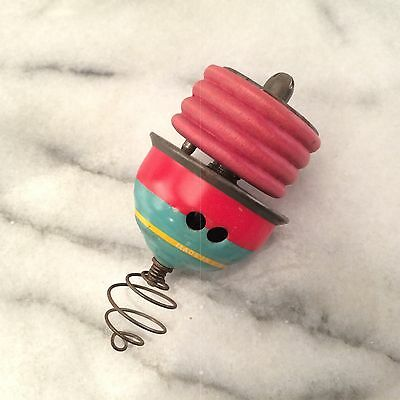 Vintage Tin Litho Spinning Top with Winder