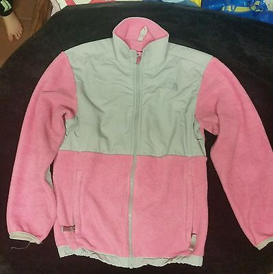 Girls The North Face Long Sleeve Polartec Fleece L/G Pink and Grey