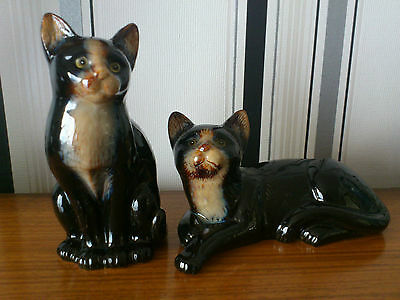 ceramic cats 2 may be from devon