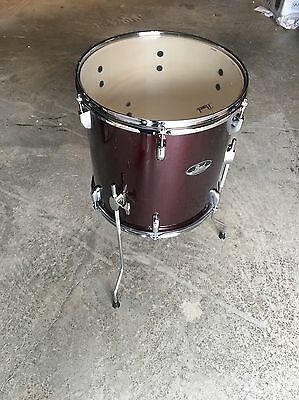 pearl roadshow 14 x 14 floor tom wine red with chrome