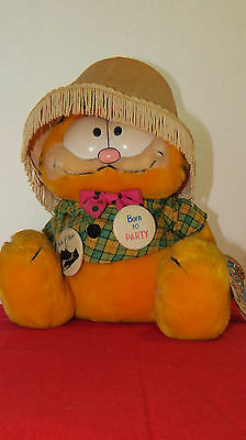 Vintage Garfield The Year of the Party Born to Party Plush Stuffed Animal