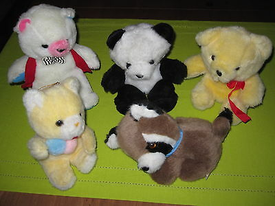 lot 5 peluches