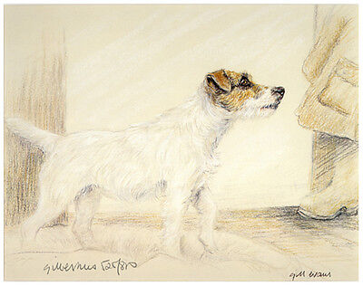 "JACK RUSSELL TERRIER PARSON DOG ART LIMITED EDITION PRINT ""Standing by the Door"""