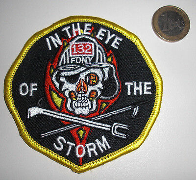 FDNY - Patch - FDNY/IN THE EYE OF THE STORM -LADDER-132