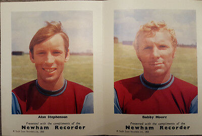 Newham Recorder : Bobby Moore & Alan Stephenson Pictures 1968 *WEST HAM UNITED*