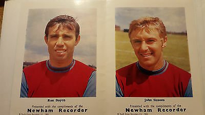 Newham Recorder :Ronnie Boyce & John Sissons Pictures 1968 *WEST HAM UNITED*