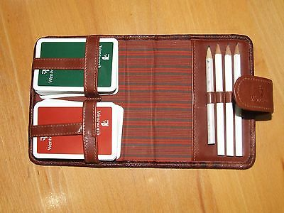 Playing Cards in Leather Case - Wentworth Golf Club Bridge