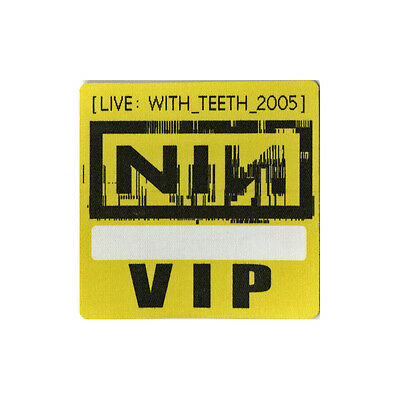 Nine Inch Nails authentic VIP 2005 tour Backstage Pass