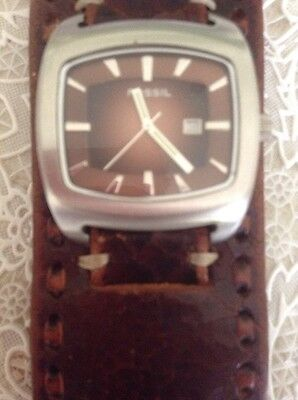Large Face Fossil Men's Cuff Watch