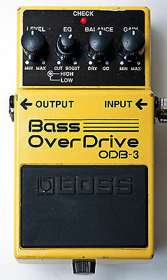 Boss ODB-3 Bass Overdrive Effects Pedal Distortion Fuzz - Free Shipping