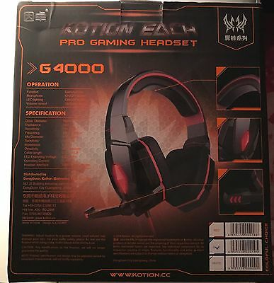 G4000 Blue Pro Gaming Headset Headphone With Mic & Volume Control