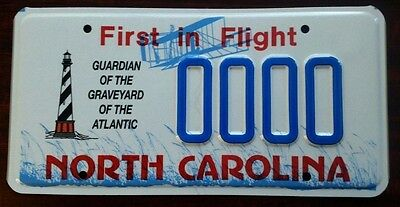 North Carolina LIGHTHOUSE NC License Plate FIRST IN FLIIGHT Graphics SAMPLE MINT