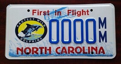 WILD DOLPHINS North Carolina NC License Plate Vintage Specialty Graphic NOS MINT