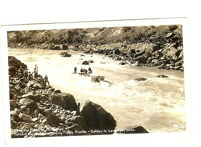 Rppc - National Geographic Photo -River Of No Return,  Shooting Fiddle Rapids
