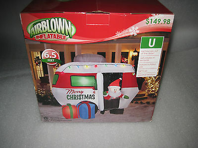 Brand New Gemmy Animated Christmas Santa Holiday Camper Trailer Inflatable Air