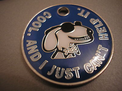Personalised Engraved Comical Pet Id Tag - Cool Dog - Free P&p & Engraving