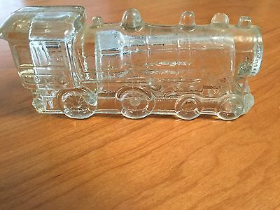 ANTIQUE CANDY CONTAINER JEANNETTE GLASS TRAIN ENGINE 888 Original Vintage Toy