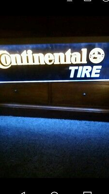 NEW Continental Tire lighted double sided Duralite hanging sign 37 x 11
