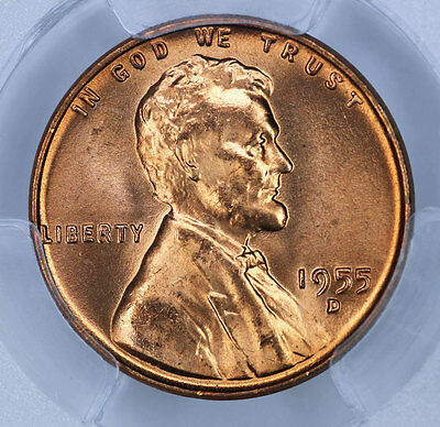 1955-D PCGS MS66RD Lincoln Cent