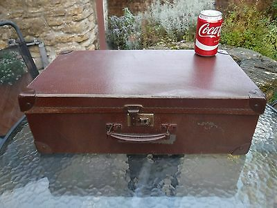 Vintage Small Brown Suitcase - Props, Weddings, Parties, Display
