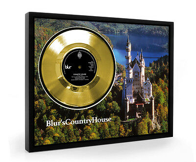 Blur Country House Framed Gold Disc Display Vinyl (C1)