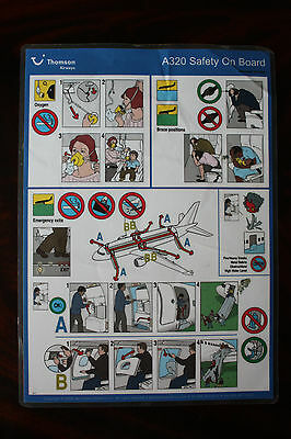 Safety Card Thomson Airways Airbus A 320