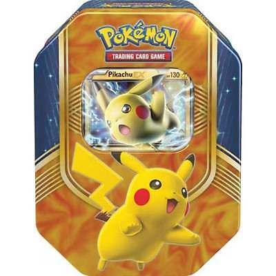 POKEMON BATTLE HEART TIN * Pikachu EX Tin + Booster Packs & Promo Card