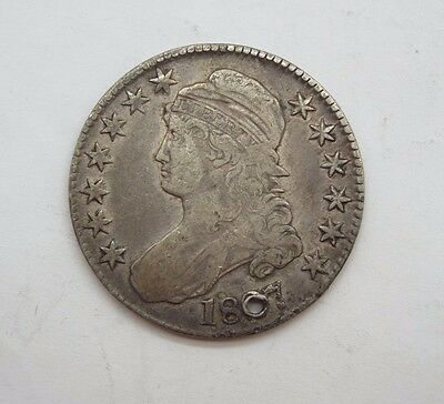 BARGAIN 1827 Capped Bust/Lettered Edge Half Dollar VERY FINE Silver 50c