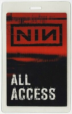 Nine Inch Nails authentic 2005 tour Laminated Backstage Pass