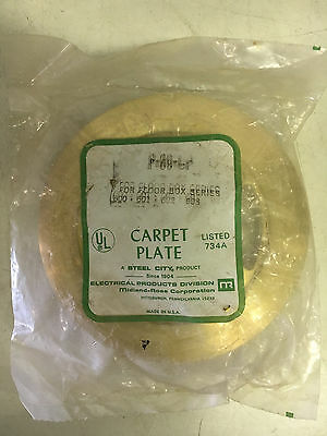 Steel City P-60-Cp New In Pack Floor Box Brass Carpet Plate See Pictures #a48