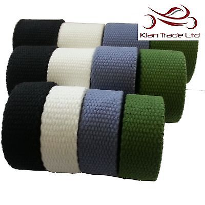 3.5MM Thick STRONG Canvas Cotton Tape Webbing Belt Fabric yoga Strap Bag DIY WW2