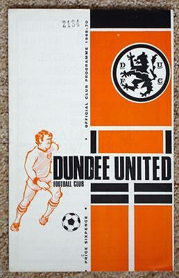 Dundee United v Clyde 69/70 Mint