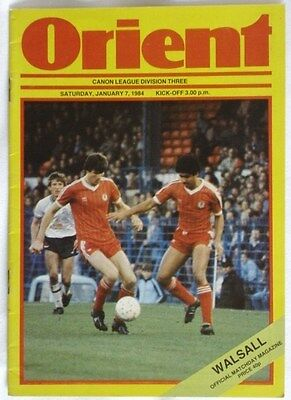 Leyton Orient v Walsall 83/84