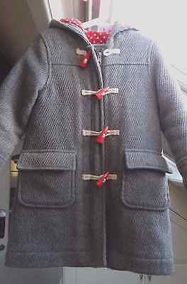 MINI BODEN girls smart coat - grey - age 3-4 years