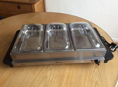 DELTA Stainless Steel Buffet Server with instruction manual.